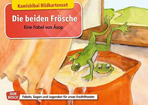 Die beiden Frösche. Eine Fabel von Äsop. Kamishibai Bildkartenset.: Entdecken – Erzählen – Begreifen: Fabeln, Sagen und Legenden (Fabeln, Sagen und Legenden für unser Erzähltheater)