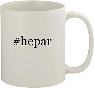 #hepar - 11oz Ceramic White Coffee Mug, White