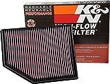 K&N 33-3055 Luftfilter mit hohem Durchfluss, kompatibel mit Volvo V40 II & Cross Country 1.5 2.0 2015-