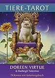 Tiere-Tarot: 78 Karten mit Anleitungsbuch - Doreen Virtue