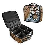 Bolsa de Maquillaje Profesional Tiger Animal, Organizador de cosméticos de Viaje, Bolsa de Aseo portátil para Maquillaje, Bolsa de Viaje para Mujeres