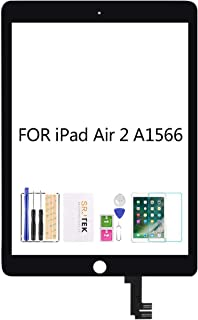 SRJTEK for iPad Air 2 2nd Gen 9.7 A1566 A1567 Touch Screen Replacement Kit,(Not LCD, NO Instructions) Touch Digitizer,Glas...
