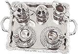 Gpzj 10 Stück Metall Teetasse Tablett Geschirr Set für Puppenhaus Dekoration im Maßstab 1:12,...