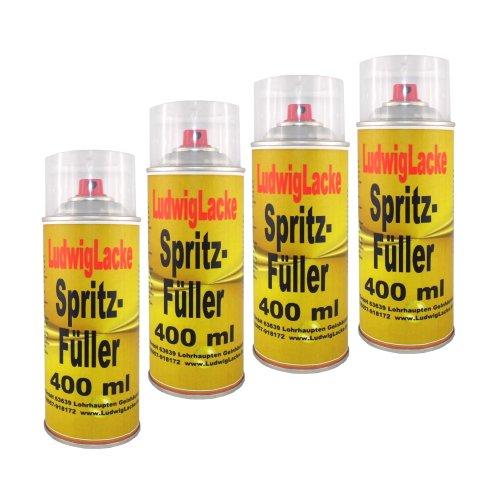 4 Spraydosen Spritzspachtel Spritzfüller Grundierung für Autolack grau