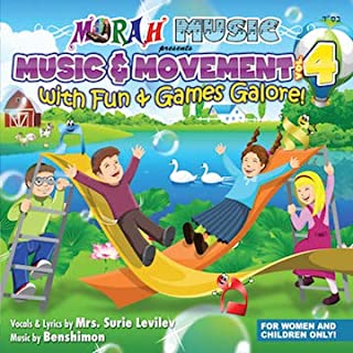 Music & Movement Fun & Games Galore Exciting New Songs / Educational Songs for Kids of all Ages, Perfect for Mommy & Me, Pre-School, Kindergarten, Amazing Jewish Music For Kids