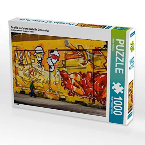 CALVENDO Puzzle Graffiti auf dem Brühl in Chemnitz 1000 Teile Lege-Größe 64 x 48 cm Foto-Puzzle Bild von Heike Hultsch