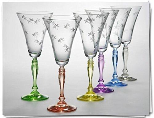 Bohemia Crystal Victoria - Copas de vino (190 ml)