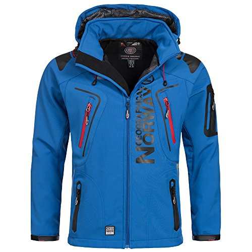 Geographical Norway - Giacca sportiva da uomo in softshell Blu XL