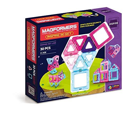 Magformers Inspire Set (30-pieces) Magnetic Building Blocks, Educational Magnetic Tiles Kit , Magnetic Construction STEM Toy Set - 63097
