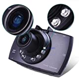 HD 1080P coche DVR vehículo cámara grabadora de vídeo Dash Cam visión nocturna, grabación en bucle, aparcamiento Monitor, detección de movimiento, negro pantalla LCD de 2,4'