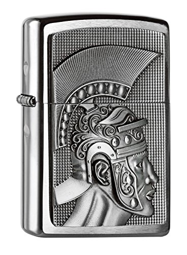 Zippo Zippo 2004662 Roman Emblem Feuerzeug, Messing Silber