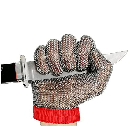 Guantes anticortes Guantes de Pesca al Aire Libre, Guantes de carnicería de Metal, Pesca Resistente a los Cortes y Guantes de Malla de Alambre de Caza (Color : 2pcs, Size : X-Small)