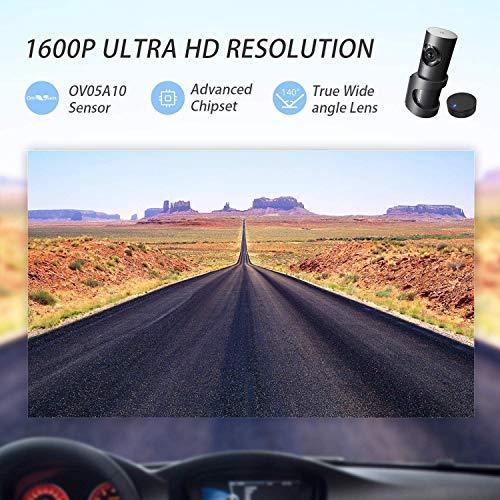 DDPai Mini2p HD 1440P 2K - Cámara de salpicadero inalámbrica con Monitor de Aparcamiento