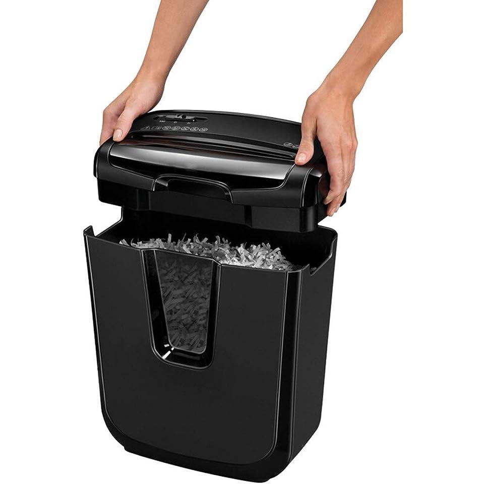 所有権嫌がらせピアノシュレッダー シュレッダー家庭用/スモールオフィスシュレッダー(シングルシュレッダー紙7)リサイクルビン引き出し 電動シュレッダー (色 : Black, Size : 38.7x32x18.6cm)