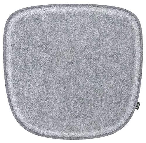 Feltd. Eco Filz Kissen geeignet für Vitra Eames Armchair DAW,DAR,DAX,RAR,DAL - 29 Farben - optional mit Antirutsch und gepolstert! (Graumeliert)