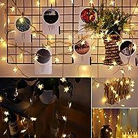 ペンタグラムライトストリング防水LEDストリング、LEDライトストリング、バーホテルの部屋のエンジニアリング装飾のための省エネ10m 100LED(Warm White)
