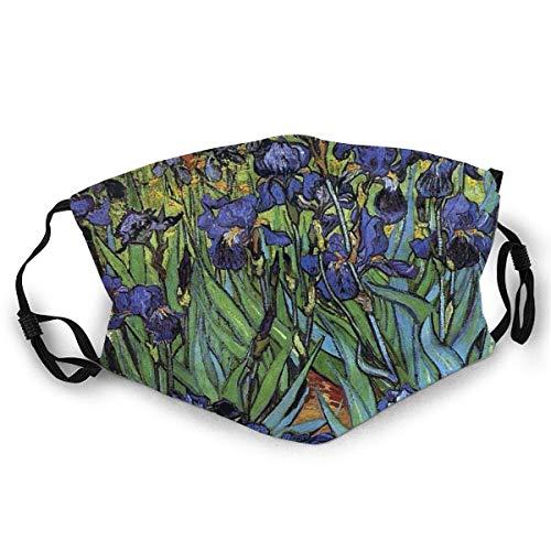 YRUI BwwoBing Máscara facial cómoda Van Gogh Irises púrpura Fine Art Sun-Proof Moda BandaHeadwear para pesca