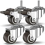 GBL - 4 kleine 25mm Rollen für Möbel M6x20mm Schrauben Schrauben, Lenkrollen, Räder mit Bremsen Industrieplatten Transport
