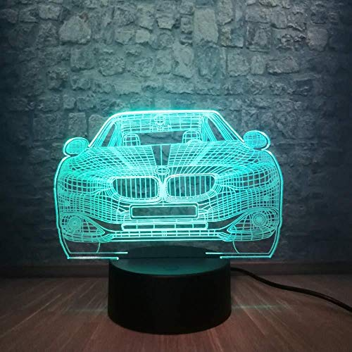 Christmas Gift 3D Night Light Car 3D Lamp Multicolor RGB Bulb LED USB Table Night Light Lava Luminaria Bedroom Decor Lighting Man Boys Christmas Gift Toy with Remote Control