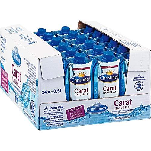 Bester der welt Noch 24 Kartons mit 500 ml Mineralwasser Christinen Carat Naturelle