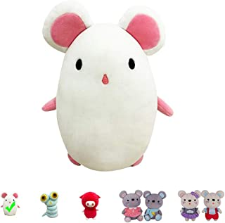 """Kailuoze Plush Stuffed Animal White Mouse 12"""" Unique Soft Baby Doll Toy Cute Attractive Face Cuddling and Collectible Unmatched Quality Huggable Perfect Gift & Present Idea for Kids"""