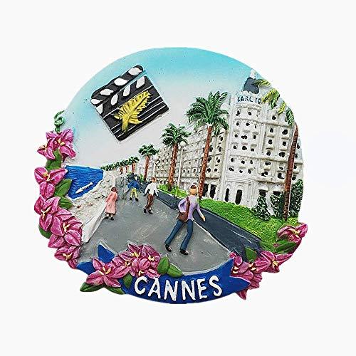 MUYU Magnet Calamita per Frigorifero 3D della Provenza-Alpi-Costa Azzurra Francia di Cannes, Souvenir da Viaggio, Decorazione per la casa e la Cucina