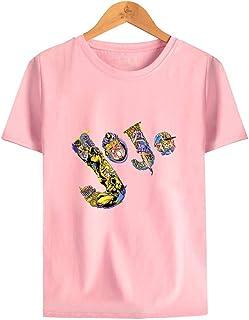 Jojo's Bizarre Adventure T Shirt Short Sleeve,Anime Printed Crew Neck Cotton Tee Unisex