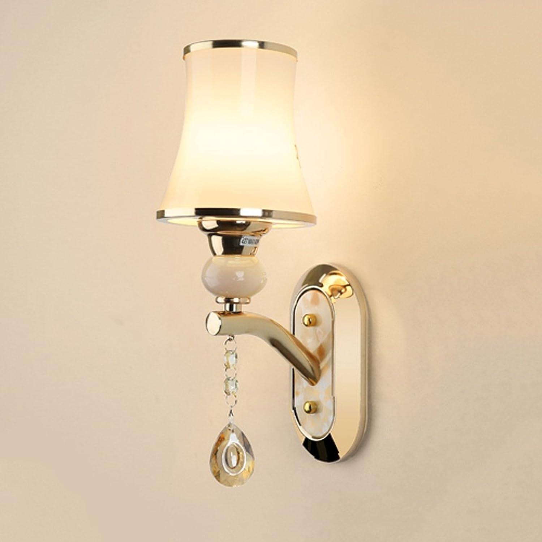 Unbekannt SKC Lighting-Wandlampe Europisches einfaches Bett Schlafzimmer Wohnzimmer TV Wand Gang Treppenwand Wandleuchte (Farbe   A)
