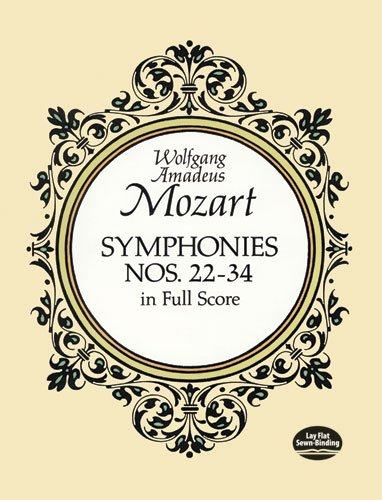 mozart later symphonies dover - 2