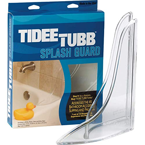 Tub And Shower Splash Guard - 1 Each