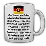 Tasse DDR Hymne Auferstanden aus Ruinen Deutsche Demokratische Reoublik #25387
