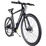 """Accolmile Bici Elettrica da Città Trekking Road Bike 28"""" 700C Bicicletta Elettrica leggera per Pendolari Ebike, BAFANG 36V 250W con Mozzo Posteriore con Batteria 10,5 Ah, Shimano a 7 velocità"""
