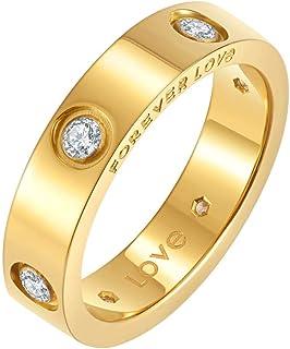 خاتم حب من نايروس مطلي بالذهب عيار 18 قيراط | خواتم وعد مع أحجار الزركون المكعبة للنساء | خواتم ذهبية للنساء
