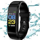 Smart Watch Fitness Tracker Cardiofrequenzimetro Monitor della IP67 Impermeabile pressione sanguigna...