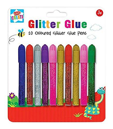 Anker Kids Create, Arts & Crafts, 10 stylos à colle pailletés colorés, assortis, 29,7 x 21 x 2 cm