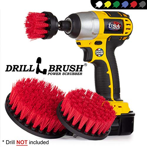 Cleaning Supplies - Drill Brush - Outdoor Power Scrub Brush Kit - Bird Bath - Garden Statues - Gnome - Outdoor Water Fountain - Monuments - Headstones - Granite Cleaner - Deck Brush - Algae, Mold