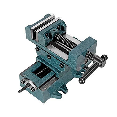 Huanyu Abrazadera de banco de metal deslizante cruzado, prensa, tornillo de taladro de ingeniería, trabajo de fresado, maschine industrial resistente (7,6 cm)