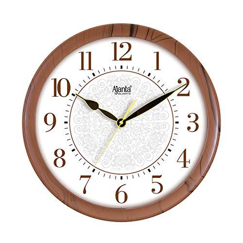 Ajanta Quartz Real Silent Sweep Movement Designer Clock (341x51x341mm)(Iron Brown)