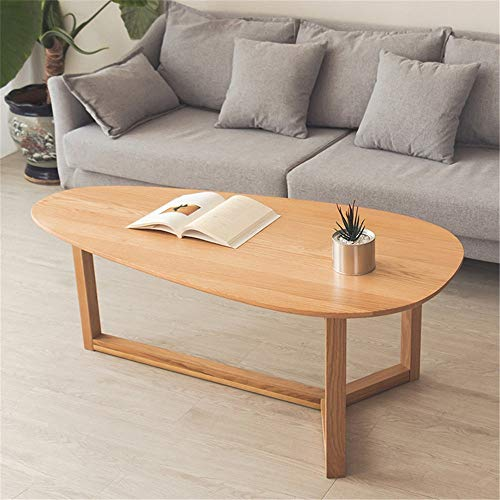 XJLJ Coffee Tables Wood Coffee Table Living Room Table TV Stand Water Drop Shape Centre Table Living Room Furniture for Office Furniture (Color : Natural, Size : 120×60cm)