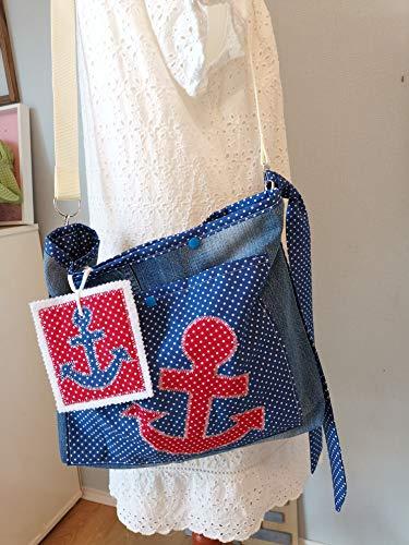 Upcycling Tasche, Ankertasche,Jeanstasche,Handmade