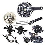 Mnjin Shimano Original Bicicleta de montaña Accesorios Set M6000 Bicicleta de montaña transmisión