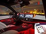 Auto Innenraum Dekorative Streifen Line,Neon-EL-Streifen-Licht-Ton-aktive...