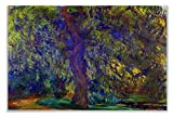 Monet Wall Art Collection Weeping Willow 1, 1918 By Claude Monet Canvas Prints Wrapped Gallery Wall Art | Stretched and Framed Ready to Hang 30X40