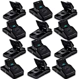 Kat Sense Rat Traps for House (12 Pack) Humane Rodent Trap for Instant Kill Results, Easy to Use Mouse Traps, Effective Anti-Rodent Solution, Reusable, Indoor 'N Outdoor