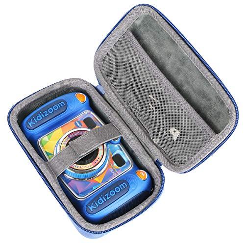 co2CREA Hart Reise Schutz Hülle Etui Tasche für Vtech Kidizoom Duo / Twist Kamera (Blau)