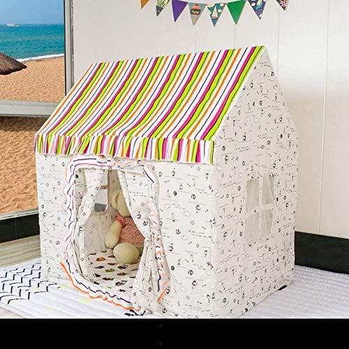 FEE-ZC Tienda de campaña nórdica con Rayas Amarillas para niños Casa de Juegos para niños y niñas Casa de Juegos con patrón de Accesorios para el hogar Casa de Juguete Casa de Cast