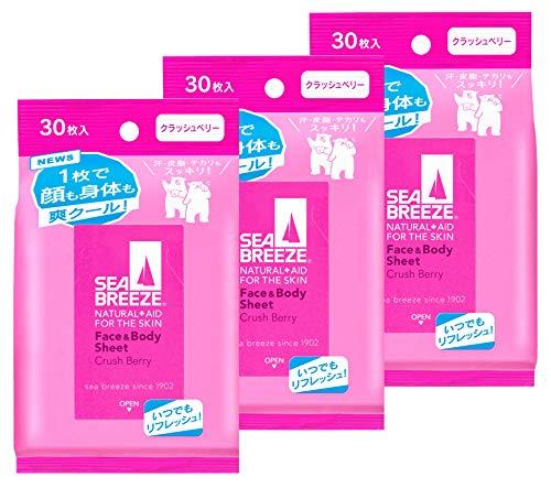 【まとめ買い】SEABREEZE(シーブリーズ) シーブリーズ フェイス&ボディシート クラッシュベリー 30枚×3個 3個セット