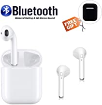 Bluetooth Headphones Wireless Earbuds Hands-Free Calling Earphones Sport Headset Built-in Microphone and Pop-up Pairing Window Automatically, Compatible with Apple airpods pro iPhone Android (White)