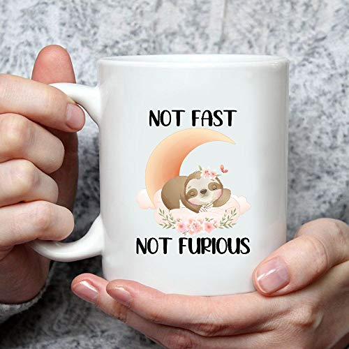 Situen Not Fast Not Furious Sloths Mug - The Funny Coffee Mugs For Halloween, Holiday, Christmas Party Decoration 11-15 Ounce Cettire