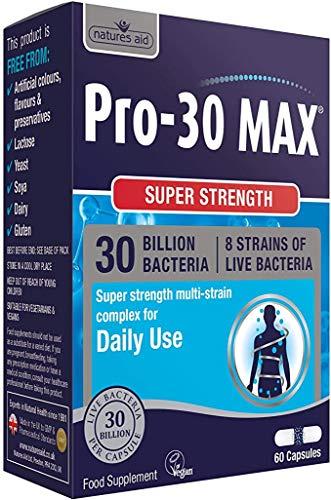 Natures Aid | Pro-30 Max 30 Billion Daily Probiotic Capsules | 1 x 60s